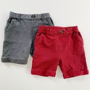 Hanna Andersson 2 Pack Boys Shorts 90cm /  US 3